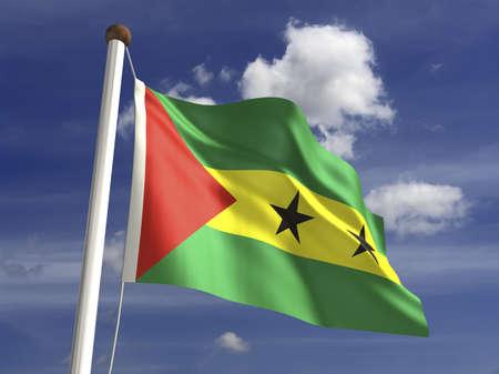 tomo: Sao Tome e Principe bandiera con il percorso di clipping Archivio Fotografico