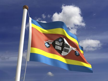 swaziland: Swaziland flag  with clipping path