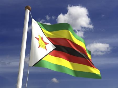 zimbabwe: Zimbabwe flag  with clipping path