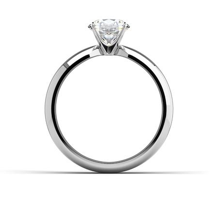 anillos de boda: Anillo de diamantes Única sobre blanco