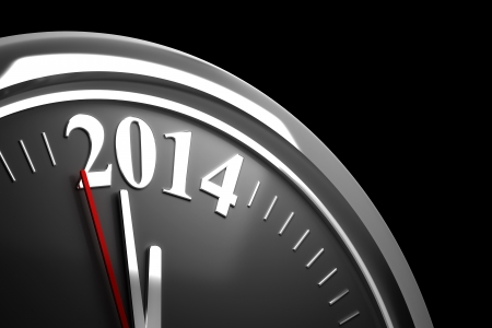 midnight time: Last Minutes to 2014  computer generated image  Stock Photo