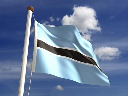 botswana: Botswana flag  with clipping path