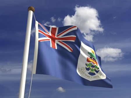 cayman islands: Cayman Islands flag  with clipping path