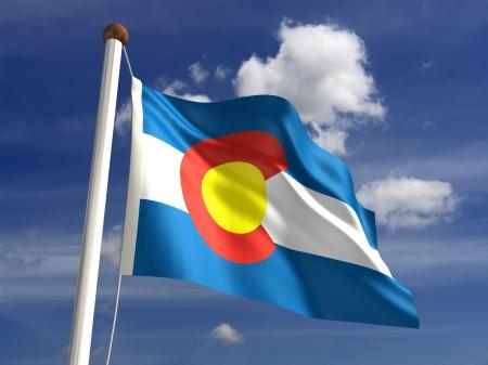 colorado flag: Colorado flag  with clipping path  Stock Photo