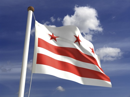 district columbia: District of Columbia flag  with clipping path