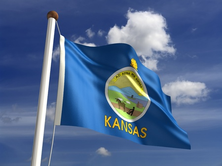���clipping path���: Kansas flag  with clipping path
