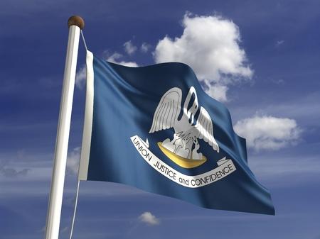 louisiana flag: Louisiana flag  with clipping path  Stock Photo