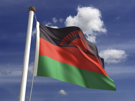 malawi flag: Malawi flag  with clipping path  Stock Photo