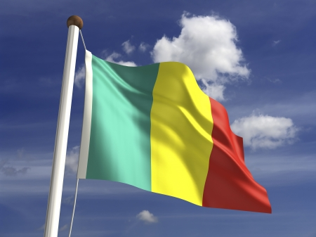 mali: Mali flag  with clipping path
