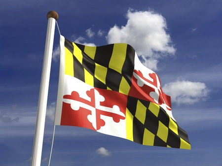 maryland flag: Maryland flag  with clipping path