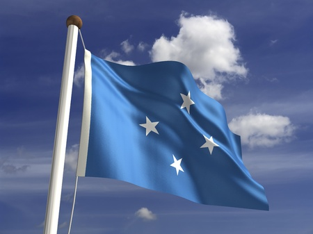 micronesia: Micronesia flag  with clipping path  스톡 사진