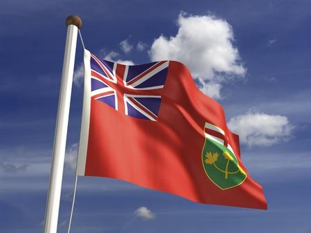 クリッピング パスとオンタリオ州の旗 写真素材