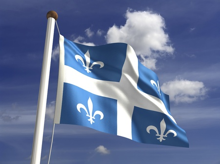 ���clipping path���: Quebec flag  with clipping path  Stock Photo