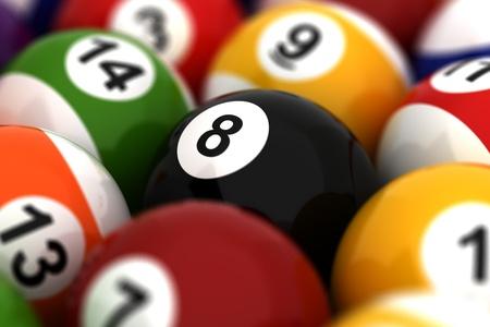 Billiard Ball Closeup photo