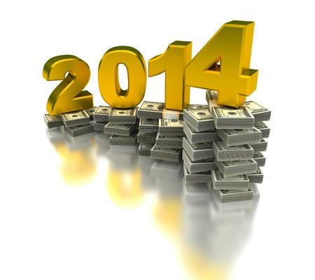 Growing Economy 2014 Stock Photo