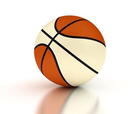 Two color basketball photo