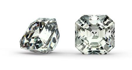 Asscher Cut Diamond Stock Photo - 21410868