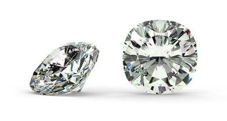 Kussen Cut Diamond Stockfoto