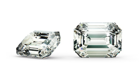 Emerald Cut Diamond Stock Photo - 21410870