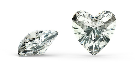 coeur diamant: Coeur de diamant de coupe