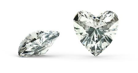Heart Cut Diamond Stock Photo - 21410871