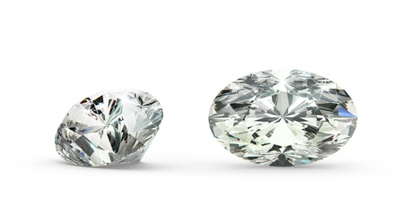 Oval Cut Diamond Stock Photo - 21410873