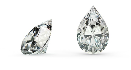 Pear Cut Diamond Stock Photo - 21410874
