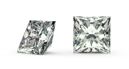 Princess Cut Diamond Stock Photo