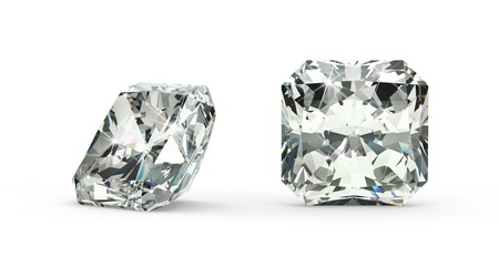Radiant Cut Diamond Stock Photo - 21410876