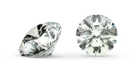 Round Cut Diamond Stock Photo - 21410877