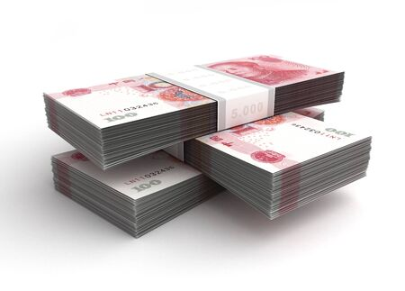 Stack of Yuan photo