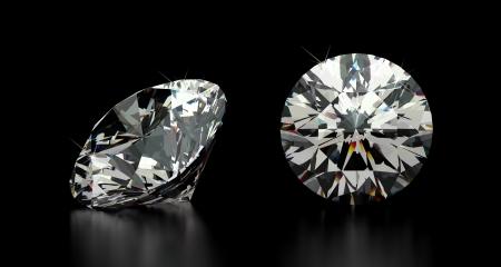 Round Cut Diamond Stock Photo - 22499909