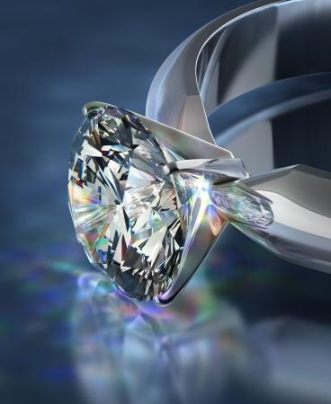 diamante: Anillo de brillantes