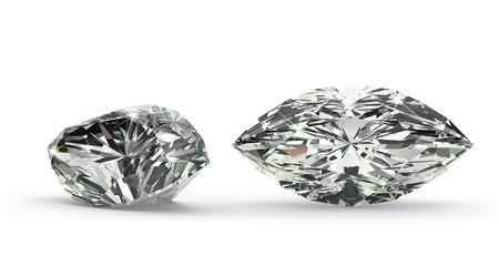 Marquise Cut Diamond Standard-Bild