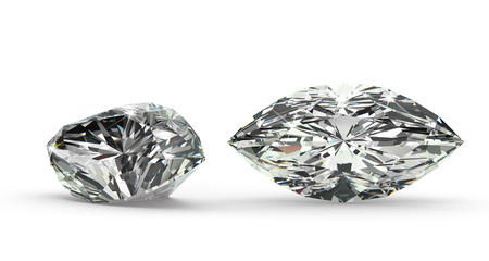 diamond shape: Marquise Cut Diamond Stock Photo