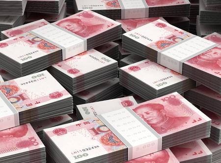 rmb: Stack of Yuan