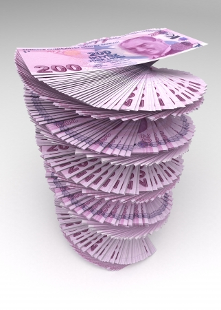 turkish lira: Turkish Lira Tower Stock Photo