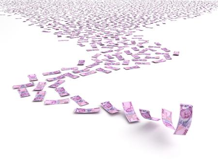 turkish lira: Falling Turkish Lira Stock Photo