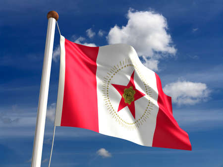 alabama flag: Birmingham City flag  isolated with clipping path