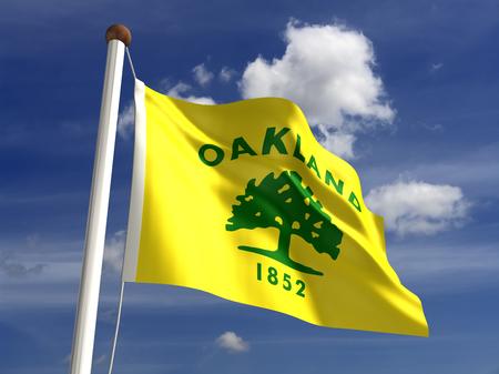 oakland: Oakland City flag  isolated