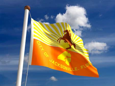 jacksonville: Jacksonville flag  isolated