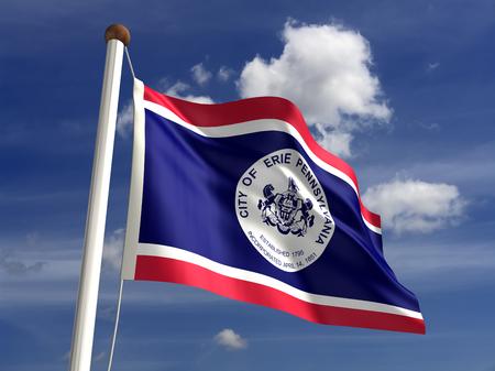 erie: Erie City flag  isolated