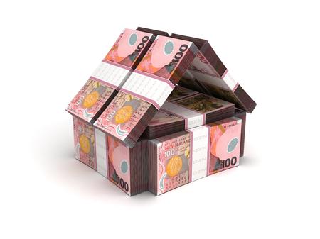 Real Estate Concept New Zealand Dollar Stock Photo - 22992863