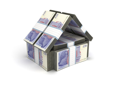 uk money: Real Estate Concept Pound Stock Photo
