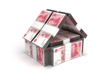made in china: Real Estate Concept Yuan Stock Photo