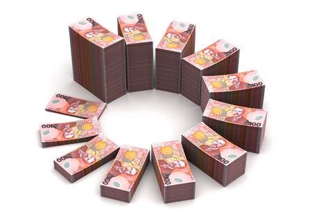 New Zealand Dollar Chart Standard-Bild