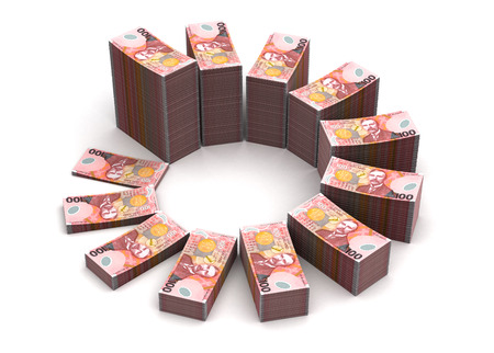 New Zealand Dollar Chart Stock Photo