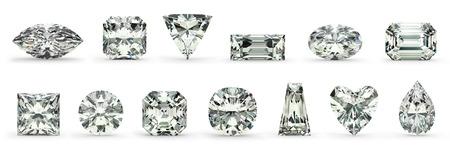 ダイヤモンド カット 写真素材