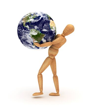 lifting globe: Holding Earth