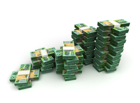 Stack of Australian Dollar photo
